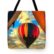 Colorful Framed Hot Air Balloon Tote Bag by Robert Bales