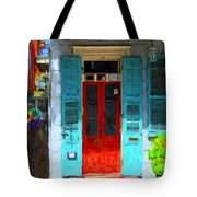 Colorful French Quarter Door  Tote Bag