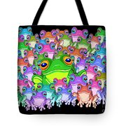 Colorful Froggy Family Tote Bag