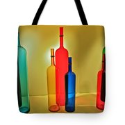 Colorful Glass Bottles Tote Bag