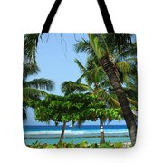 Colorful Greens And Blues Tote Bag