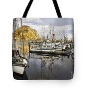 Colorful Harbor II Impasto Tote Bag