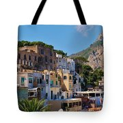 Colorful Houses In Capri Tote Bag
