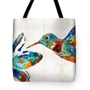 Colorful Hummingbird Art By Sharon Cummings Tote Bag