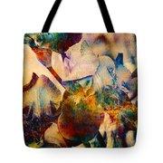 Colorful Iris Watercolor Tote Bag