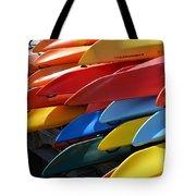 Colorful Kayaks Tote Bag