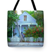 Colorful Key West Cottage Tote Bag