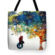 Colorful Landscape Art - The Dreaming Tree - By Sharon Cummings Tote Bag