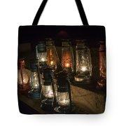 Colorful Lanterns At Night Tote Bag