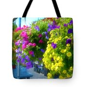 Colorful Large Hanging Flower Plants 1 Tote Bag