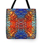 Colorful Layers Vertical - Abstract Art By Sharon Cummings Tote Bag by Sharon Cummings