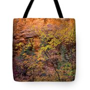 Colorful Leaves On A Tree Tote Bag