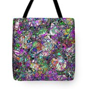 Colorful Lines Abstract Tote Bag