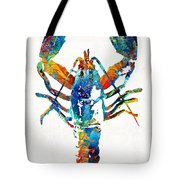 Colorful Lobster Art By Sharon Cummings Tote Bag