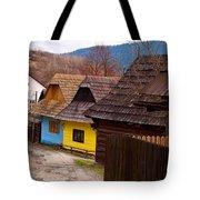 Colorful Log Homes Tote Bag