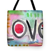 Colorful Love- Painting Tote Bag by Linda Woods