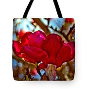 Colorful Magnolia Blossom Tote Bag