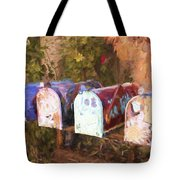 Colorful Mailboxes Santa Fe Painterly Effect Tote Bag