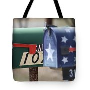 Colorful Mailboxes Tote Bag