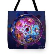 Colorful Metallic Orb Tote Bag
