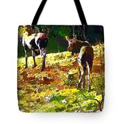 Colorful Moose Tote Bag
