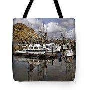 Colorful Morning Harbor Tote Bag