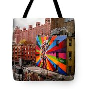 Colorful Mural Chelsea New York City Tote Bag