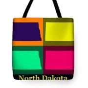 Colorful North Dakota Pop Art Map Tote Bag
