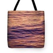 Colorful Ocean Water At Sunset Tote Bag