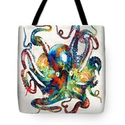 Colorful Octopus Art By Sharon Cummings Tote Bag