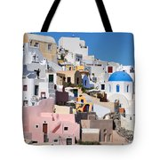 Colorful  Oia Tote Bag