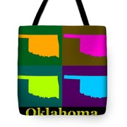 Colorful Oklahoma State Pop Art Map Tote Bag