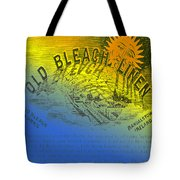 Colorful Old Bleach Linen Ad Tote Bag