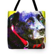 Colorful Old Dog Tote Bag