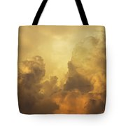Colorful Orange Yellow Storm Clouds At Sunset  Tote Bag