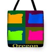 Colorful Oregon Pop Art Map Tote Bag