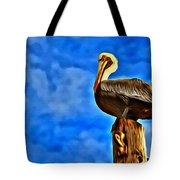 Colorful Pelican Tote Bag