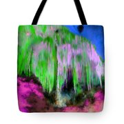 Colorful Phosphorescent Cave Tote Bag