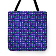 Colorful Polka Dots On Blue Fabric Background Tote Bag