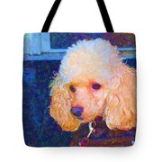 Colorful Poodle Tote Bag