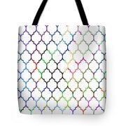 Colorful Quatrefoil Tote Bag