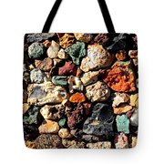 Colorful Rock Wall With Border Tote Bag