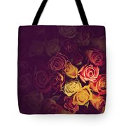 Colorful Roses Background Tote Bag