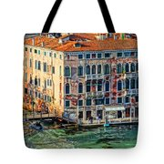 Colorful Rotten Palace In Venice Italy  Tote Bag