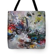 Colorful Seascape Abstract Landscape Tote Bag