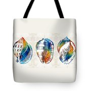 Colorful Seashell Art - Beach Trio - By Sharon Cummings Tote Bag