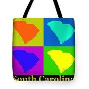 Colorful South Carolina Pop Art Map Tote Bag