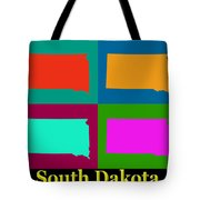 Colorful South Dakota Pop Art Map Tote Bag