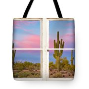 Colorful Southwest Desert Window Art View Tote Bag