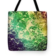 Colorful Splashing Pouring Water With Bubbles Tote Bag